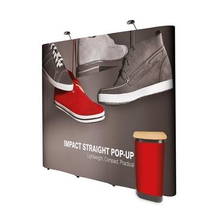 Ścianka Pop Up Magnetyczna Prosta 3x5 z wydrukiem