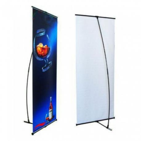 L banner 80x180  z wydrukiem